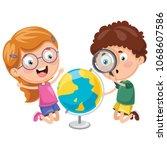 vector illustrations of kids... | Shutterstock .eps vector #1068607586