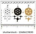 decorative horizontal panel... | Shutterstock .eps vector #1068615830