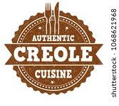 authentic creole cuisine grunge ...   Shutterstock .eps vector #1068621968