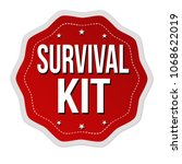 survival kit label or sticker... | Shutterstock .eps vector #1068622019