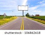 billboard on country road | Shutterstock . vector #106862618