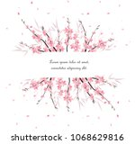 vector illustration sakura... | Shutterstock .eps vector #1068629816