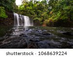 tad tayicseua waterfall on the... | Shutterstock . vector #1068639224