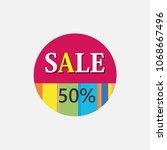 icon vector symbol sign sticker ... | Shutterstock .eps vector #1068667496