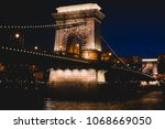 night view of a famous budapest ... | Shutterstock . vector #1068669050