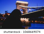 night view of a famous budapest ... | Shutterstock . vector #1068669074