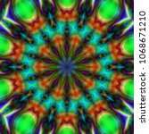 psychedelic background. color... | Shutterstock . vector #1068671210