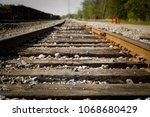 Railroad Tracks On Sunny Day