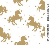 seamless pattern with gold... | Shutterstock .eps vector #1068680726