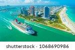 usa. florida. miami beach.... | Shutterstock . vector #1068690986