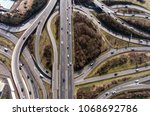 aerial view of a highway... | Shutterstock . vector #1068692786