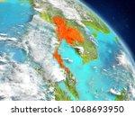 illustration of thailand as... | Shutterstock . vector #1068693950