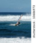 windsurfing on the blue waters... | Shutterstock . vector #10686973