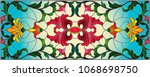 llustration in stained glass... | Shutterstock .eps vector #1068698750
