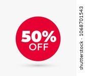 red discount offer price label. ... | Shutterstock .eps vector #1068701543