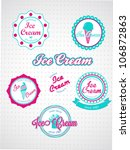 set of vintage and modern ice... | Shutterstock .eps vector #106872863