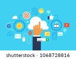 cloud computing. flat design...   Shutterstock .eps vector #1068728816