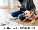 woman managing the debt | Shutterstock . vector #1068734180