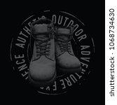 boots illustration for t shirt. ... | Shutterstock .eps vector #1068734630