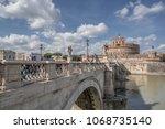 castel sant angelo  rome  ...   Shutterstock . vector #1068735140