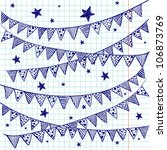 Bunting Flags On A Squared...