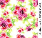 abstract elegance seamless... | Shutterstock .eps vector #1068753620