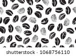 abstract coffee beans on white ... | Shutterstock .eps vector #1068756110