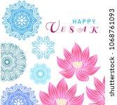 happy vesak.template creative... | Shutterstock .eps vector #1068761093