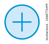 add plus create  | Shutterstock .eps vector #1068772499