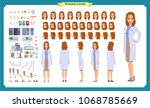 scientist character creation... | Shutterstock .eps vector #1068785669