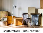 packed furniture in the house | Shutterstock . vector #1068785900