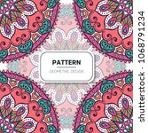 ethnic floral seamless pattern... | Shutterstock .eps vector #1068791234