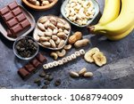 products containing magnesium ... | Shutterstock . vector #1068794009
