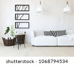 idea of a white scandinavian...   Shutterstock . vector #1068794534