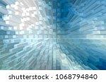 modern 3d extrude blue abstract ... | Shutterstock . vector #1068794840