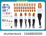 set of businesswoman character... | Shutterstock .eps vector #1068800000