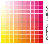 cmyk color chart to use in... | Shutterstock .eps vector #1068800243