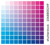 cmyk color chart to use in... | Shutterstock .eps vector #1068800249