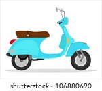 green vintage scooter  cool... | Shutterstock .eps vector #106880690