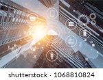 data management platform ... | Shutterstock . vector #1068810824