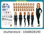set of businesswoman character... | Shutterstock .eps vector #1068828140
