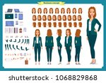 young woman  casual clothes.... | Shutterstock .eps vector #1068829868