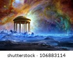 Fantasy Landscape With Temple