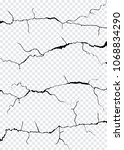 vector wall cracks isolated....   Shutterstock .eps vector #1068834290