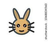 rabbit icon. vector sign symbol ... | Shutterstock .eps vector #1068834560