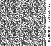 big flat doodle graphic... | Shutterstock .eps vector #1068837416