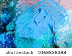 oil green and blue colors on... | Shutterstock . vector #1068838388