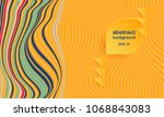 vector abstract background... | Shutterstock .eps vector #1068843083