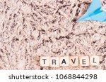 travel with copy space | Shutterstock . vector #1068844298