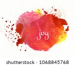 joy on watercolor background | Shutterstock . vector #1068845768